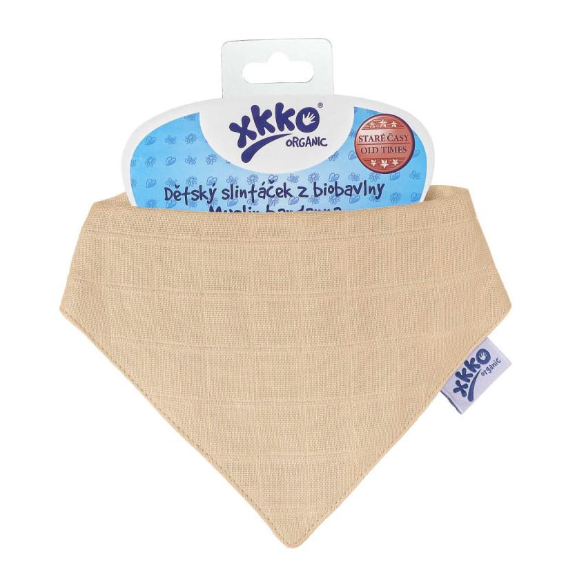 Dětský slintáček XKKO Organic Staré časy Summer Peach