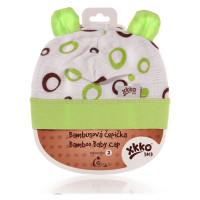 Bambusová čepička XKKO BMB - Lime Bubbles