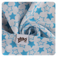 Bambusová osuška XKKO BMB 90x100 - Little Stars Cyan 10x1ks VO bal.