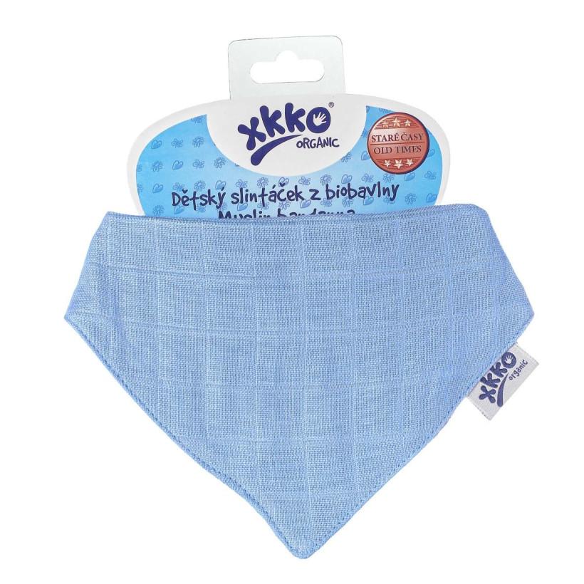 Dětský slintáček XKKO Organic Staré časy Ocean Blue