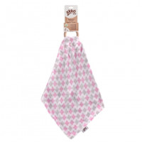 Kousátko XKKO BMB s plenkou - Baby Pink Cross