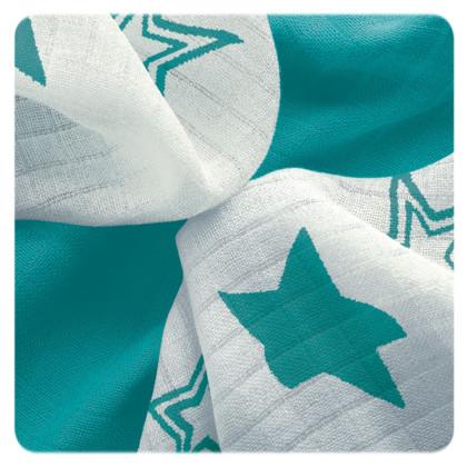 Bambusové ubrousky XKKO BMB 30x30 - Turquoise Stars MIX