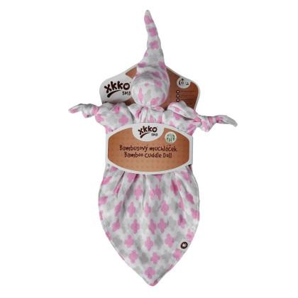 Bambusový muchláček XKKO BMB - Baby Pink Cross