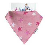 Dribble Ons Designer Pink Stars 3x1ks Velkoobchodní balení