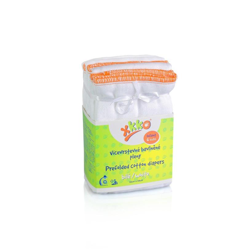 Vícevrstvé plenky XKKO (4/8/4) - Infant Bílé- 24x6ks VO bal.