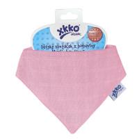 Dětský slintáček XKKO Organic Staré časy Light Pink