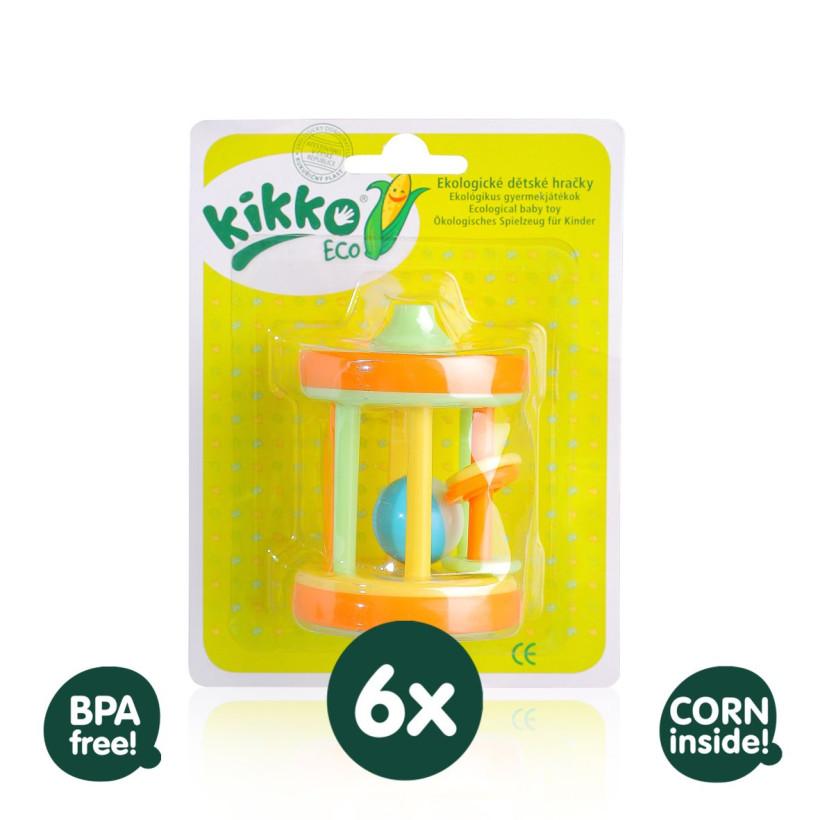 Ekologické hračky XKKO ECO - 6x Bubínek VO bal.