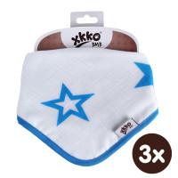 Bambusový slintáček XKKO BMB - Cyan Stars 3x1ks VO bal.