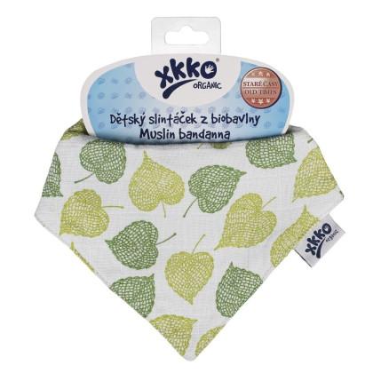 Dětský slintáček XKKO Organic Staré časy - Lípa