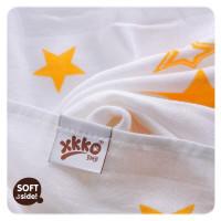 Bambusová osuška XKKO BMB Orange Stars  90x100cm