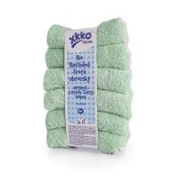 BIO bavlněné froté ubrousky XKKO Organic 21x21- Mint