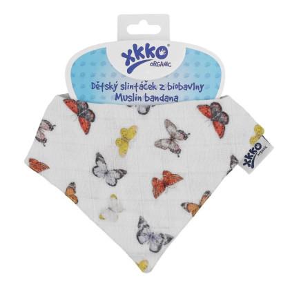 Dětský slintáček XKKO Organic - Butterflies