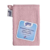 BIO bavlněná froté žínka XKKO Organic - Baby Pink 5x1ks (VO bal.)