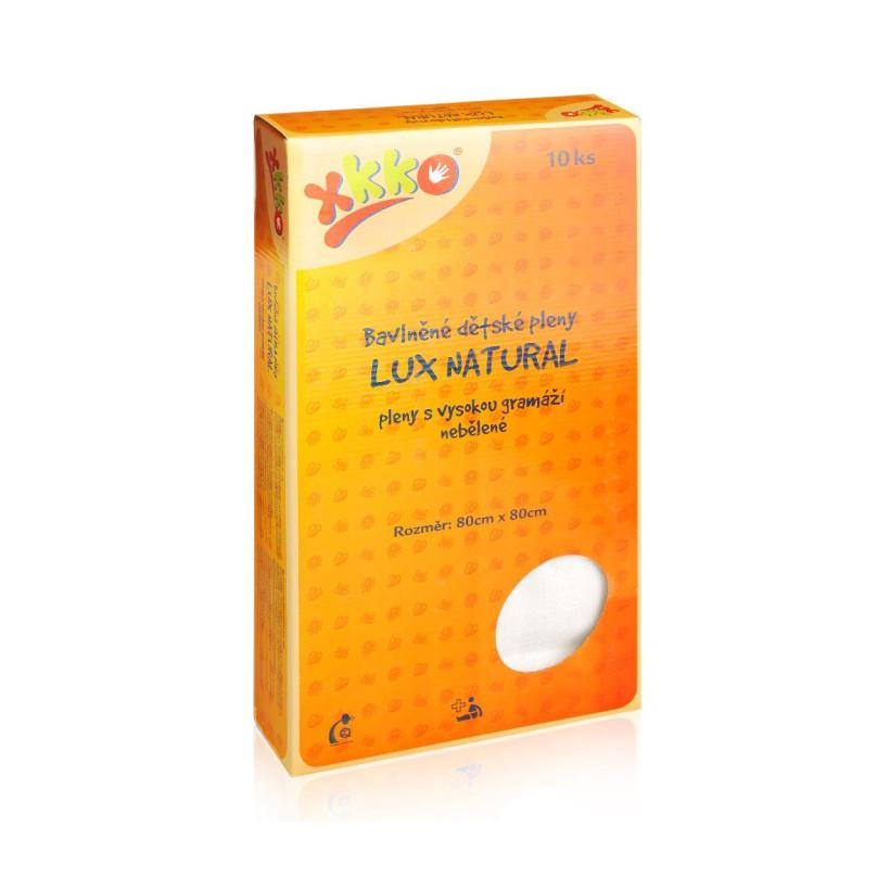 Vysokogramážní dětské pleny XKKO LUX ECO 80x80 - Natural