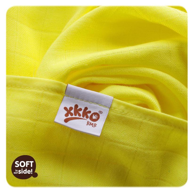 Bambusové pleny XKKO BMB Lemon Stars MIX 70x70cm - 3ks