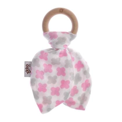 Kousátko XKKO BMB Lístky - Baby Pink Cross
