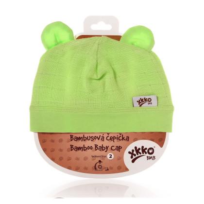 Bambusová čepička XKKO BMB - Lime