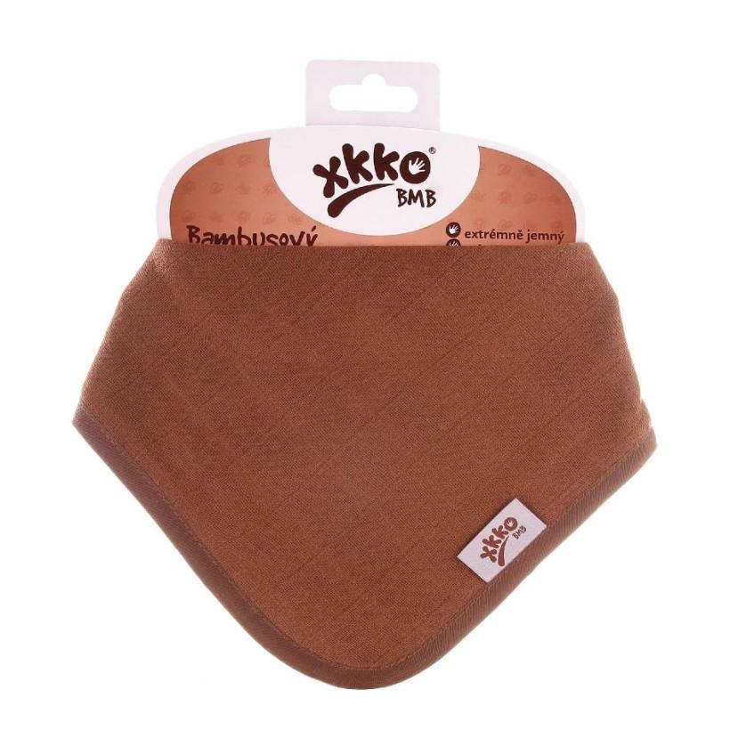 Bambusový slintáček XKKO BMB - Milk Choco 3x1ks VO bal.