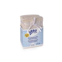 Vícevrstvé plenky XKKO Organic (4/8/4) - Newborn Natural 24x6ks (VO bal.)
