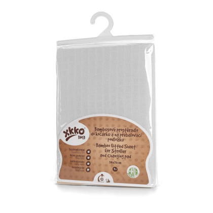 Bambusové prostěradlo s gumou XKKO BMB 50x70 - Bílé