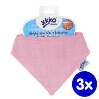 Dětský slintáček XKKO Organic Staré časy - Light Pink3x1ks VO bal.
