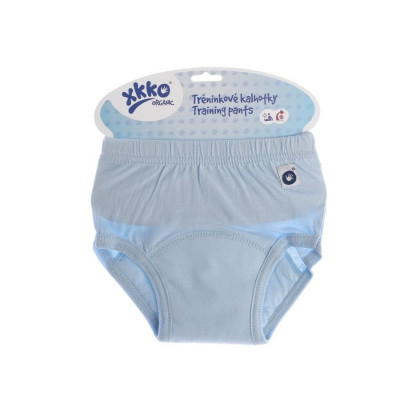 Tréninkové kalhotky XKKO Organic - Baby Blue