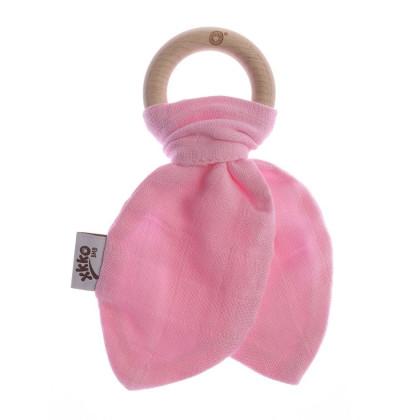 Kousátko XKKO BMB Lístky - Baby Pink