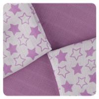Bambusové ubrousky XKKO BMB 30x30 - Little Stars Lilac MIX 10x9ks VO bal.